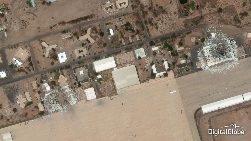 L'aéroport de Sanaa (Yémen) à 40cm de résolution. Crédit : DigitalGlobe.