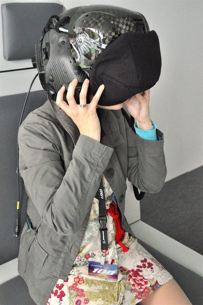 Les journalistes d'Aerospatium donnent de leur personne. FIA16 - crédit : S. Barensky pour Aerospatium