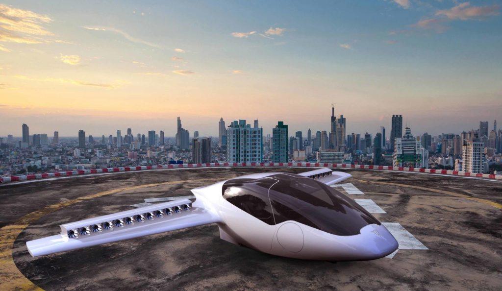 Propulsion électrique distribuée, décollage vertical, etc. L'aviation électrique est porteuse de nouvelles configurations innovantes (ici le Lilium Jet). Crédit : Lilium Aviation.