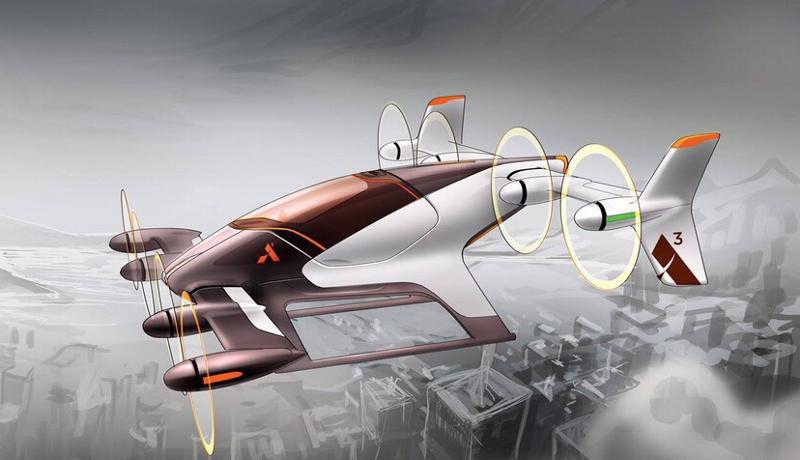 L'aviation électrique pourrait offrir de nouvelles solutions de mobilité urbaine (ici le Vahana). Crédit : A3 - Airbus Group.