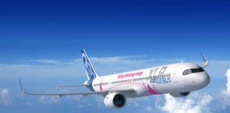 Vue d'artiste de l'A321XLR.