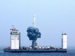CZ-11 tir en mer