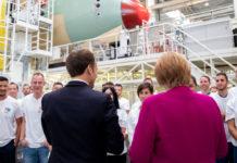 "Macron Merkel Airbus Toulouse l""export"