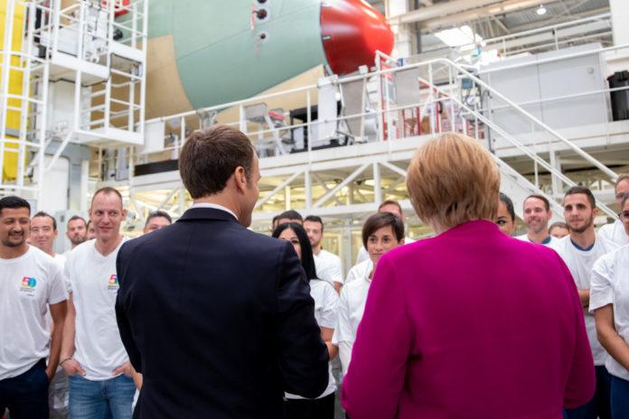 Macron Merkel Airbus Toulouse l