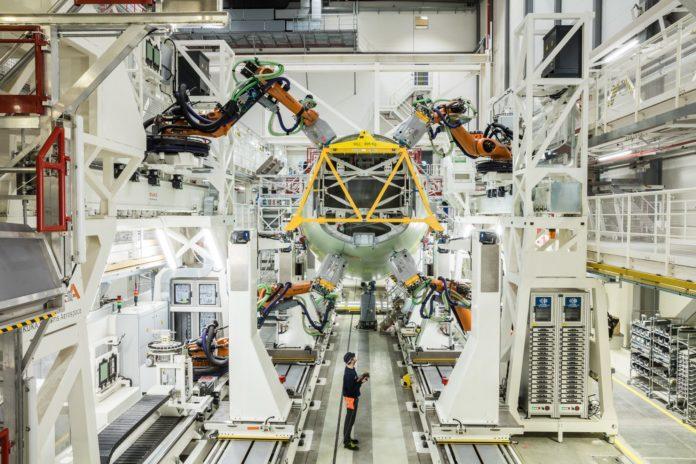 Chaîne robotisée A320 Hambourg