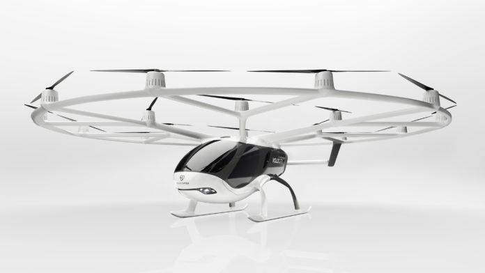 Drone taxi Volocity Volocopter