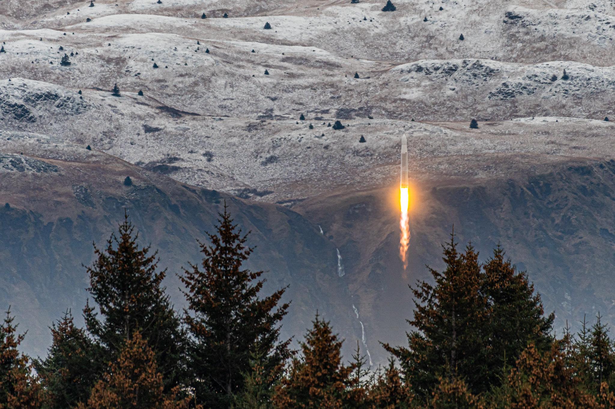 Décollage de l'Astra Rocket.