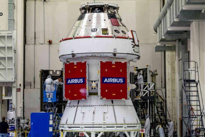 Orion ESM-1 Artemis modules