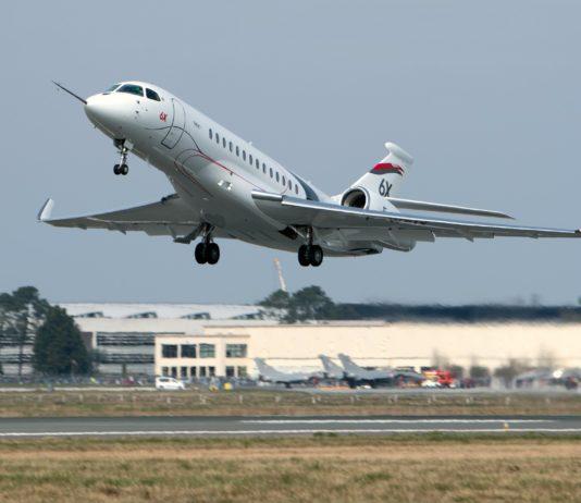 Premier vol du Falcon 6X